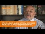 """Defensa de Pólit considera """"ilegal"""" el inicio de juicio político - Teleamazonas"""