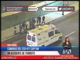 Cámaras del ECU-911 captan accidente de tránsito en Guayaquil