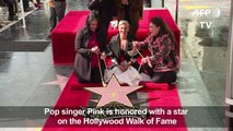 US singer P!nk unveils Hollywood Walk of Fame star