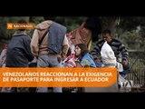 Venezolanos rechazan la nueva exigencia para ingresar a Ecuador - Teleamazonas