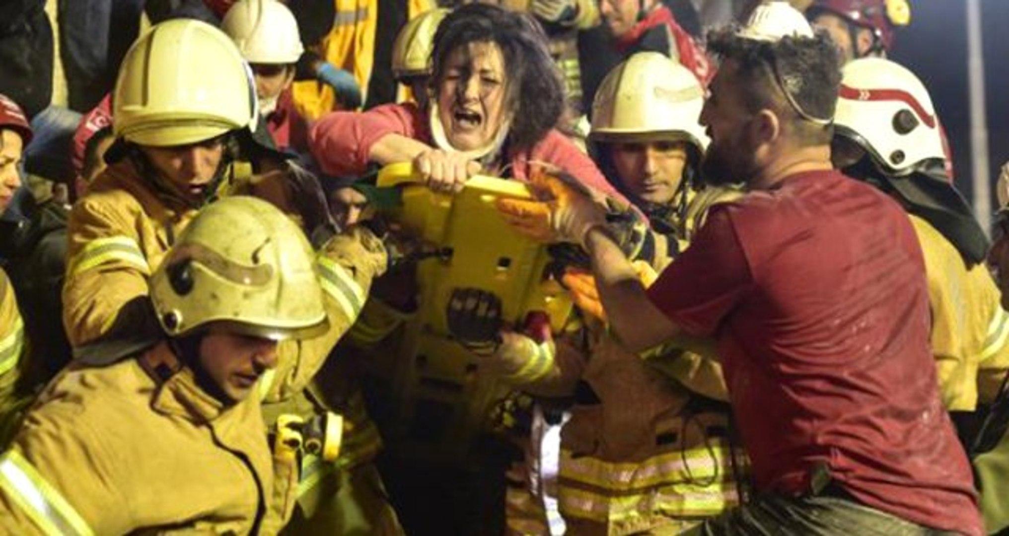 Kartal'da Çöken Binanın Enkazından 5 Saat Sonra Böyle Kurtarıldı
