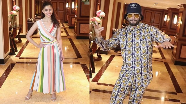 Alia Bhatt wears a colour-blocked, striped dress for Gully Boy promotions