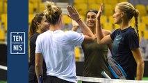 Fed Cup Belgique France la minute bleue n°2 : au travail !