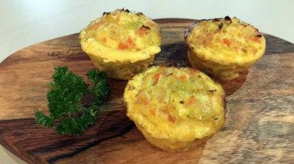 Recette: Flans aux poireaux, carottes et curry