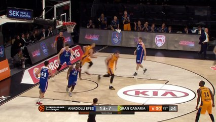 EuroLeague 2018-19 Highlights Regular Season Round 22 video: Efes 93-74 Gran Canaria