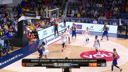 EuroLeague 2018-19 Highlights Regular Season Round 22 video: Buducnost 90-98 Khimki