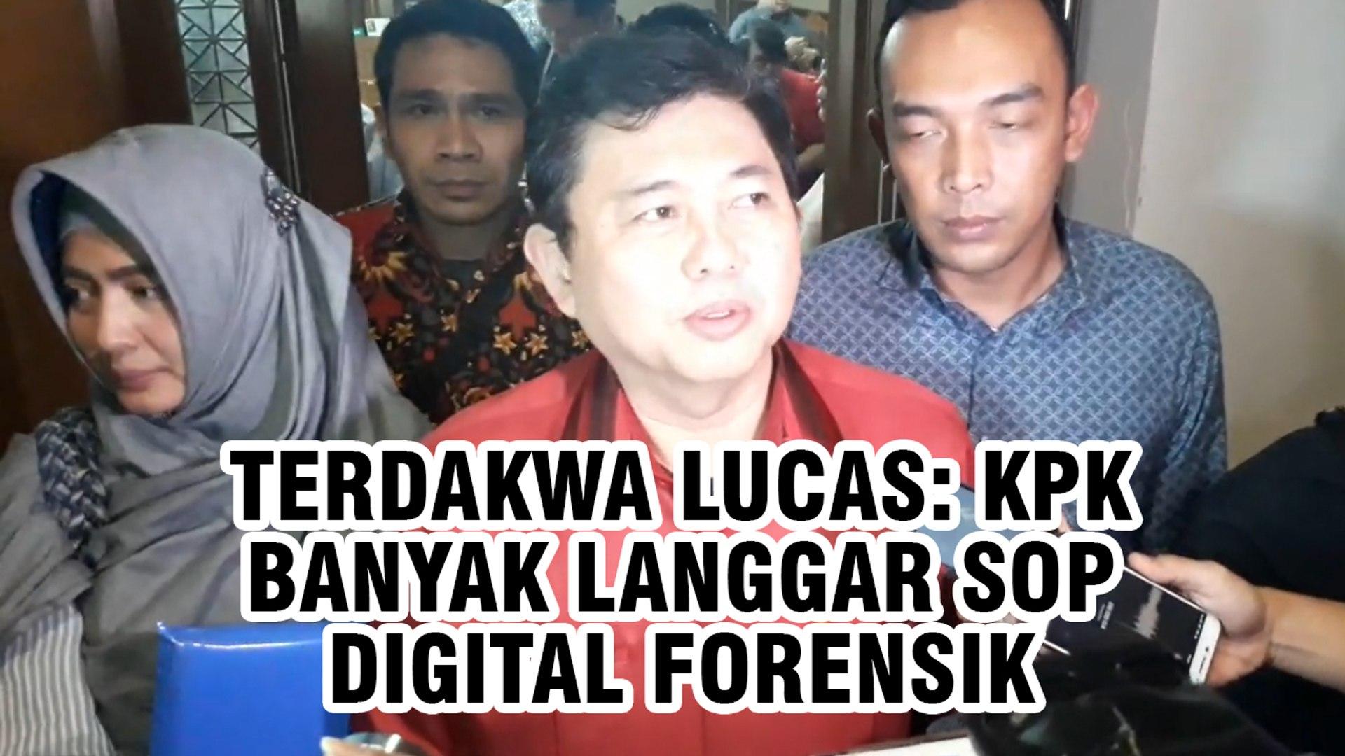 Terdakwa Lucas: KPK Banyak Langgar SOP Digital Forensik