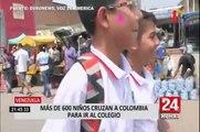 Escolares venezolanos cruzan la frontera para recibir comida