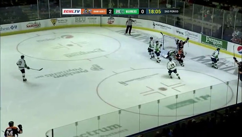 ECHL Greenville Swamp Rabbits 8 at Maine Mariners 2