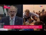 Golpes, gritos e insultos en el debate por la reforma previsional