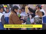 Protesta de panaderos: Regalaron 5 mil kilos de pan frente al Congreso