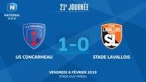 J21 : US Concarneau - Stade Lavallois (1-0), le résumé