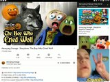 SARAN WRAP EVERYWHERE!   Dailymotion Reactions #252: Annoying Orange Story Time #12: The Boy Who Cried Wolf