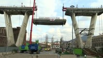 Ponte Morandi Genova, avanti i lavori di smontaggio