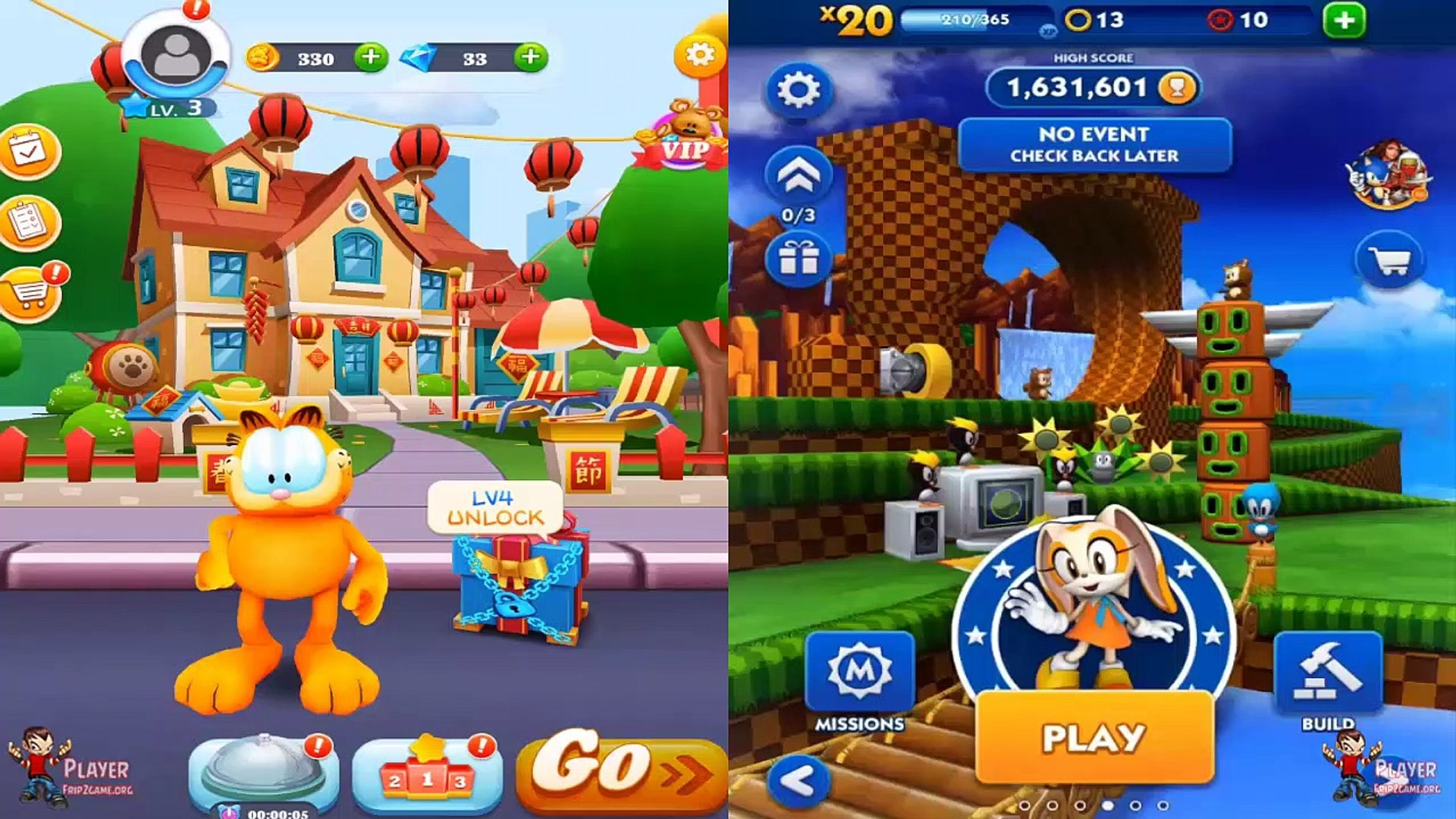 Garfield Rush Vs Sonic Dash Ios Android Gameplay Walkthrough Video Dailymotion