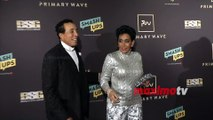 Smokey Robinson and Frances Glandney 2019 Primary Wave Grammy Party Red Carpet