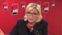"""Marine Le Pen : """"On a vu des vidéos de gilets jaunes qui ont jeté des manifestations des amis de Mr Soral"""""""