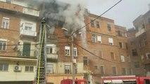 Durrës, zjarr në një pallat  - Top Channel Albania - News - Lajme