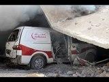 أورينت ترصد تدمير مشفى الرحمة بخان شيخون من قبل الطيران الروسي