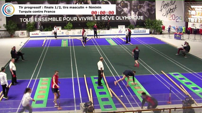 Finale (1ere et 2ème places) du tir progressif, France contre Turquie, première Coupe du Monde Mixte de tirs sportifs, Saint-Vulbas 2019