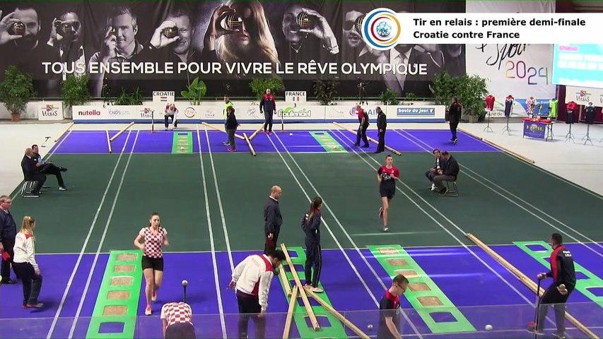 Demi-finales du tir en relais, première Coupe du Monde Mixte de tirs sportifs, Saint-Vulbas 2019