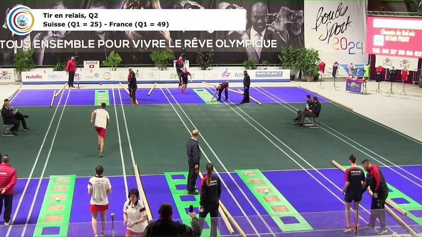 Qualifications 2 du tir en relais, première Coupe du Monde Mixte de tirs sportifs, Saint-Vulbas 2019
