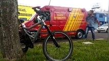 Colisão de trânsito deixa ciclista ferido na Av. Tancredo Neves