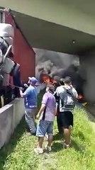 Vídeo gravado logo após a queda do helicóptero com o jornalista Ricardo Boechat