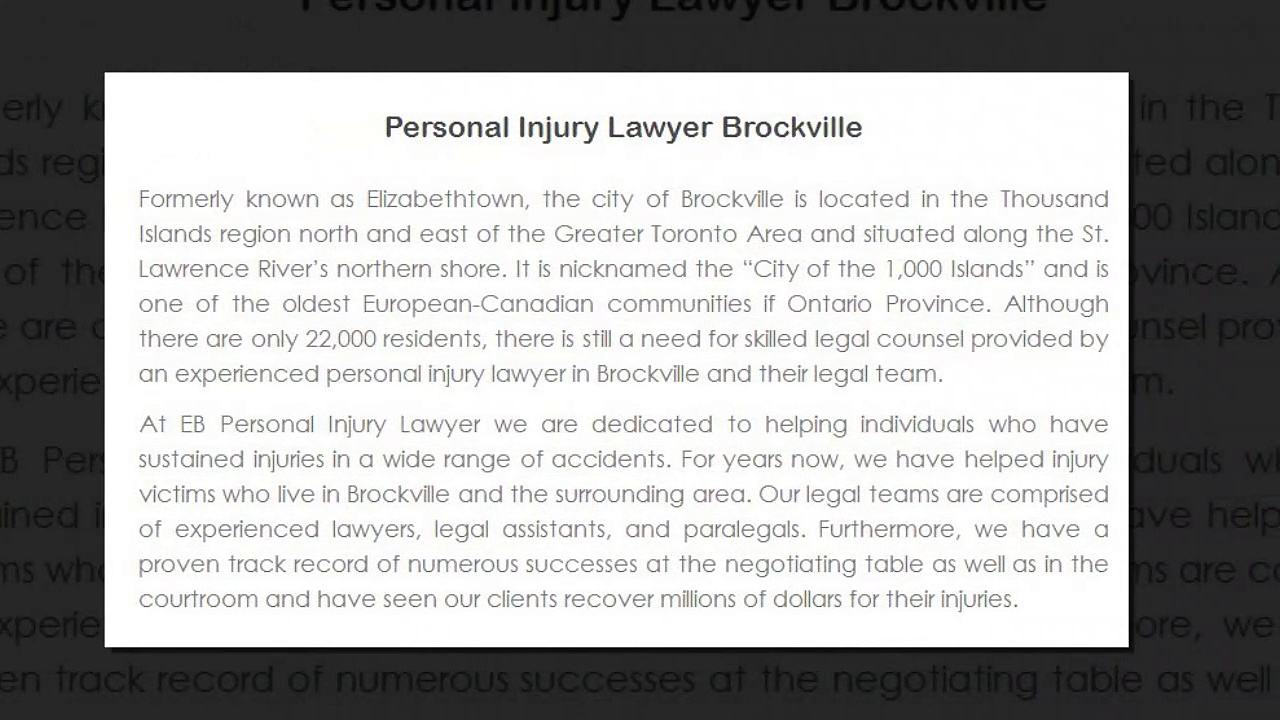 Best Stoney Creek Personal Injury Lawyer – EB Personal Injury Lawyer (800) 289-5079