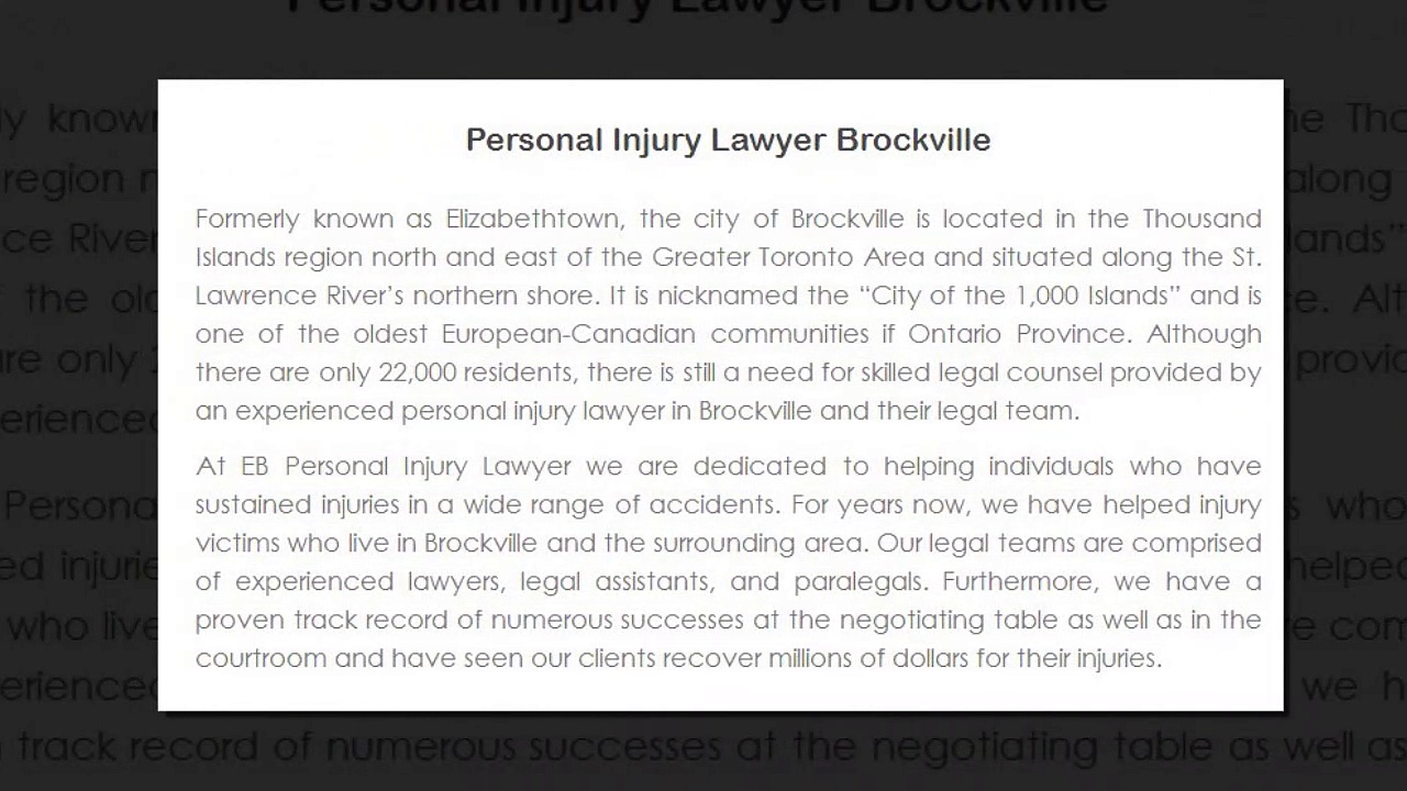 Top Stoney Creek Personal Injury Lawyer – EB Personal Injury Lawyer (800) 289-5079