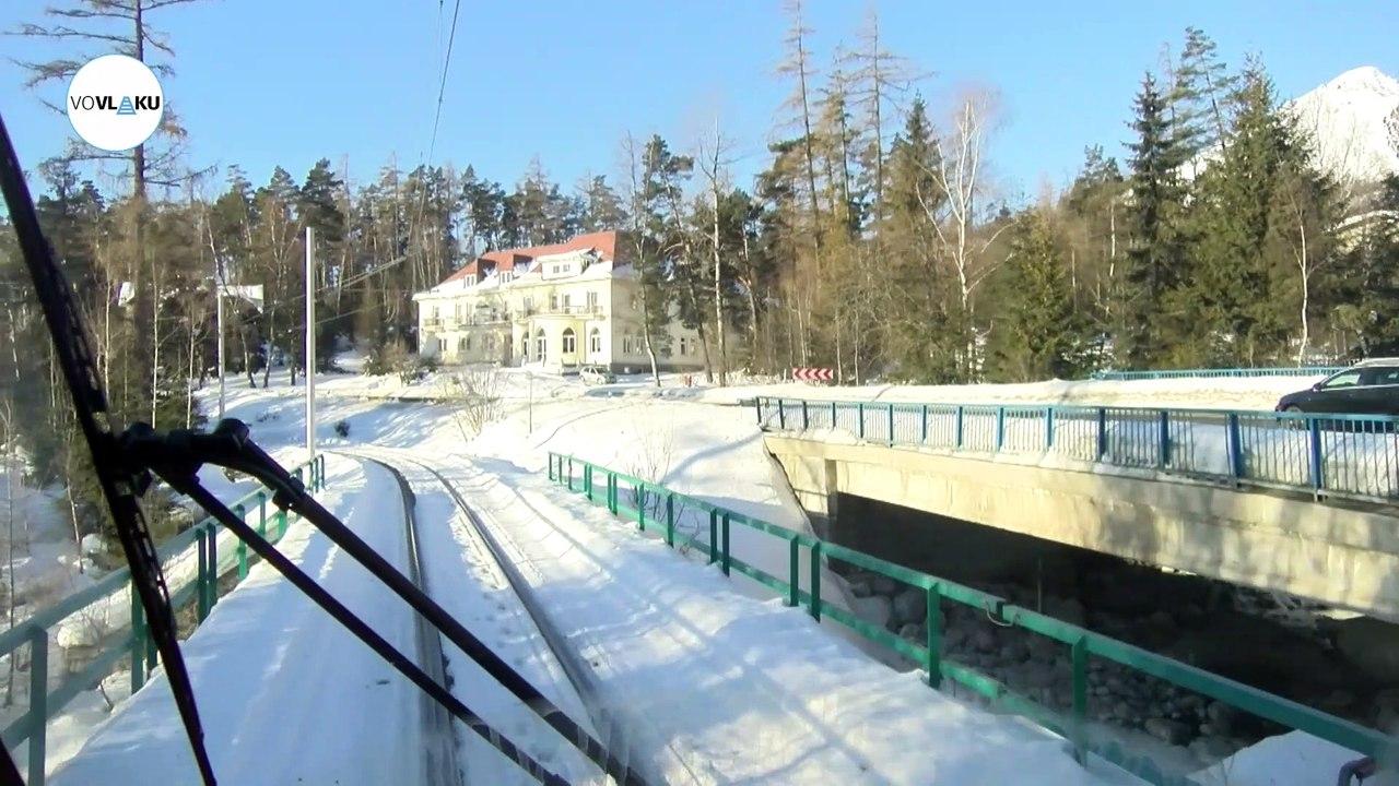 UNIKÁTNY VLAKOVÝ VIDEOPROJEKT: Trať Tatranská Lomnica - Starý Smokovec