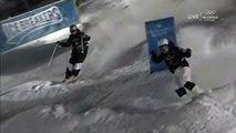 Double backflip @World Champs dual moguls semi finals vs U.S. Ski & Snowboard's Brad Wilson