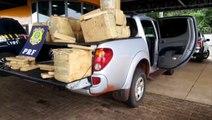 PRF apreende caminhonete carregada com maconha