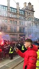 These PSG fans in Manchester today are class