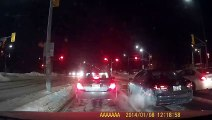 Red Light Runner Causes Nasty Collision
