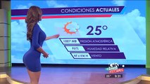 İspanyol Hava Durumu Sunucusu Güzelliği ile Herkesi Ekrana Kitliyor