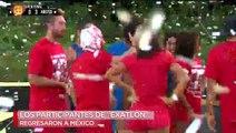 ¡COLOSAL! Pato Araujo y Evelyn Guijarro regresaron a México después de estar en Exatlón.