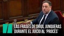 Las frases de Oriol Junqueras en el juicio al 'proces'