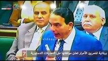 برلمانية المصريين الأحرار تعلن موافقتها على التعديلات الدستورية