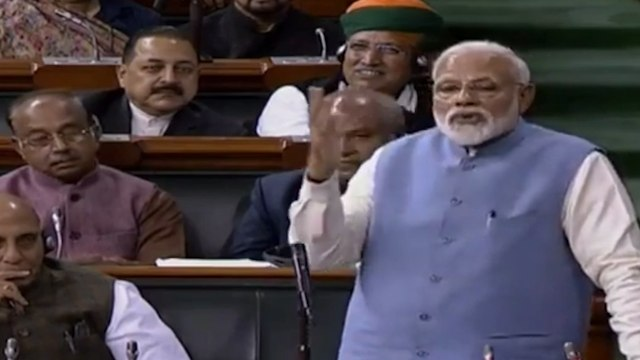 PM Narendra Modi takes a jibe at Rahul Gandhi's 'jhappi' and 'wink'