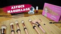Astuce maquillage : ranger vos pinceaux avec une natte de bambou