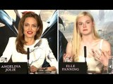 Maleficent Angelina Joile & Elle Fanning Interview