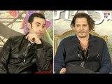 Johnny Depp & Sacha Baron Cohen On Mad Wonderland Improv