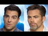 Chris Pine & Zachary Quinto Interview - Alice Eve vs Sofia Boutella