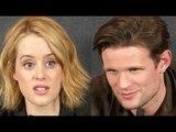 Claire Foy & Matt Smith Interview The Crown Premiere