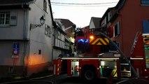 Incendie au centre-ville d'Obernai