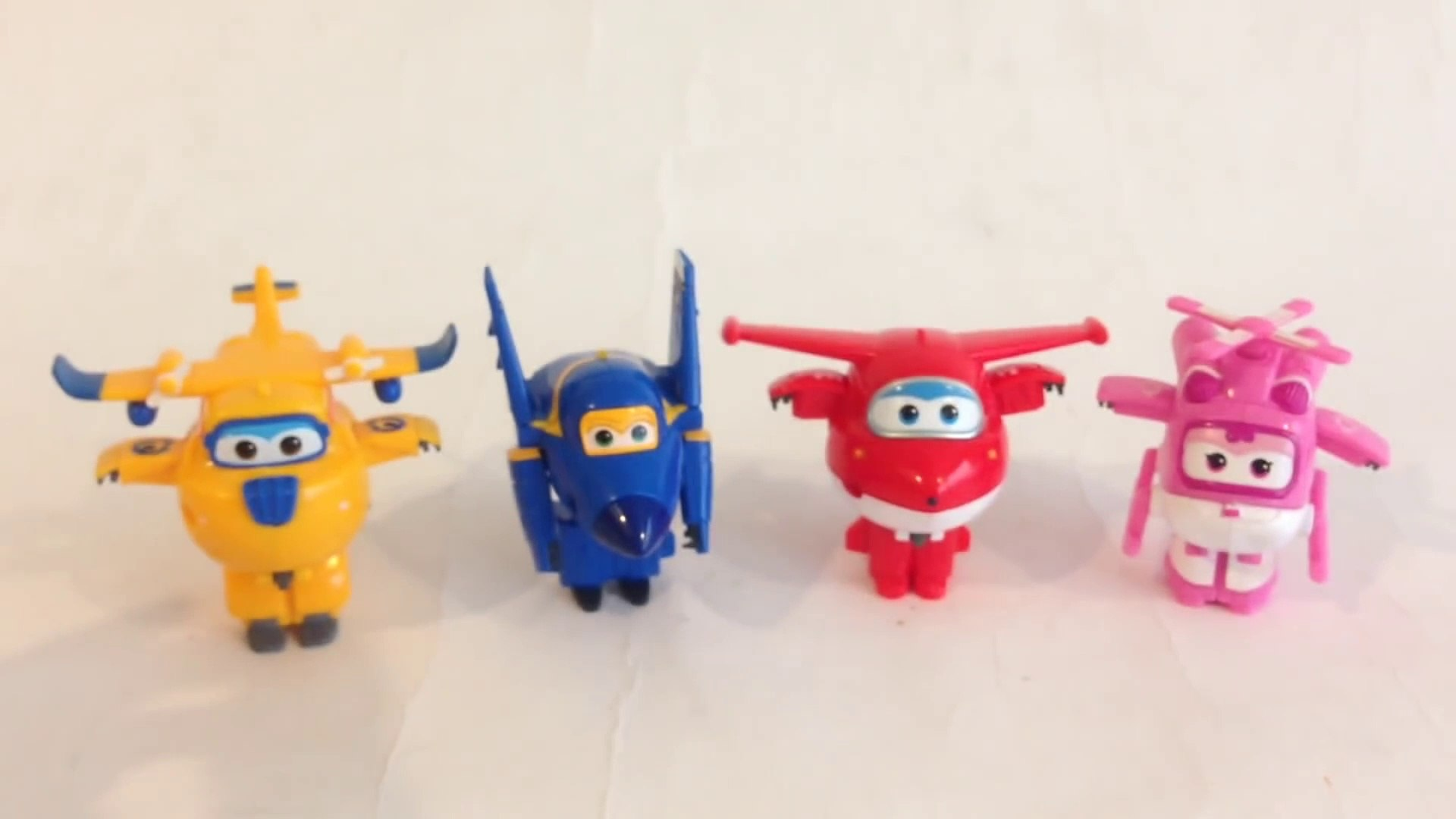 4 Super Wings Mini Transforming Robots Airplane Jett Donnie Jerome Dizzy 출동슈퍼윙스  - Unboxing Review