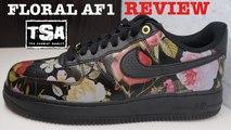 Nike Air Force 1 Floral Low AF1 Sneaker Detailed Look Review