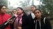 Women College students protest  against Pro Pakistan slogans raised in Jammu