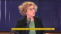 """Muriel Pénicaud est """"favorable à titre personnel"""" à la suppression des retraites chapeau"""", car la ministre du Travail """"pense qu'il faut arrêter d'avoir des régimes de retraites exceptionnels pour les dirigeants des entreprises"""""""